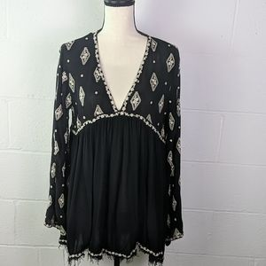 Free people embroidered boho top/ short dress